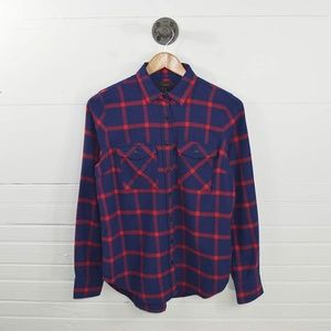 J. CREW PLAID FLANNEL BUTTON DOWN #123-31